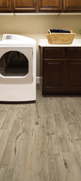 Luxury vinyl flooring laundry room | Boyer's Floor Covering