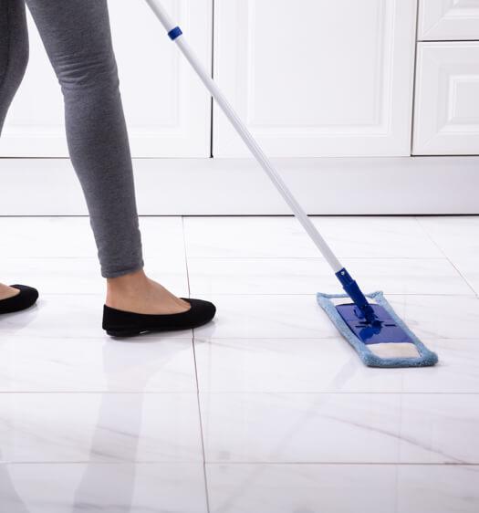 Tile sweeping | Boyer's Floor Covering