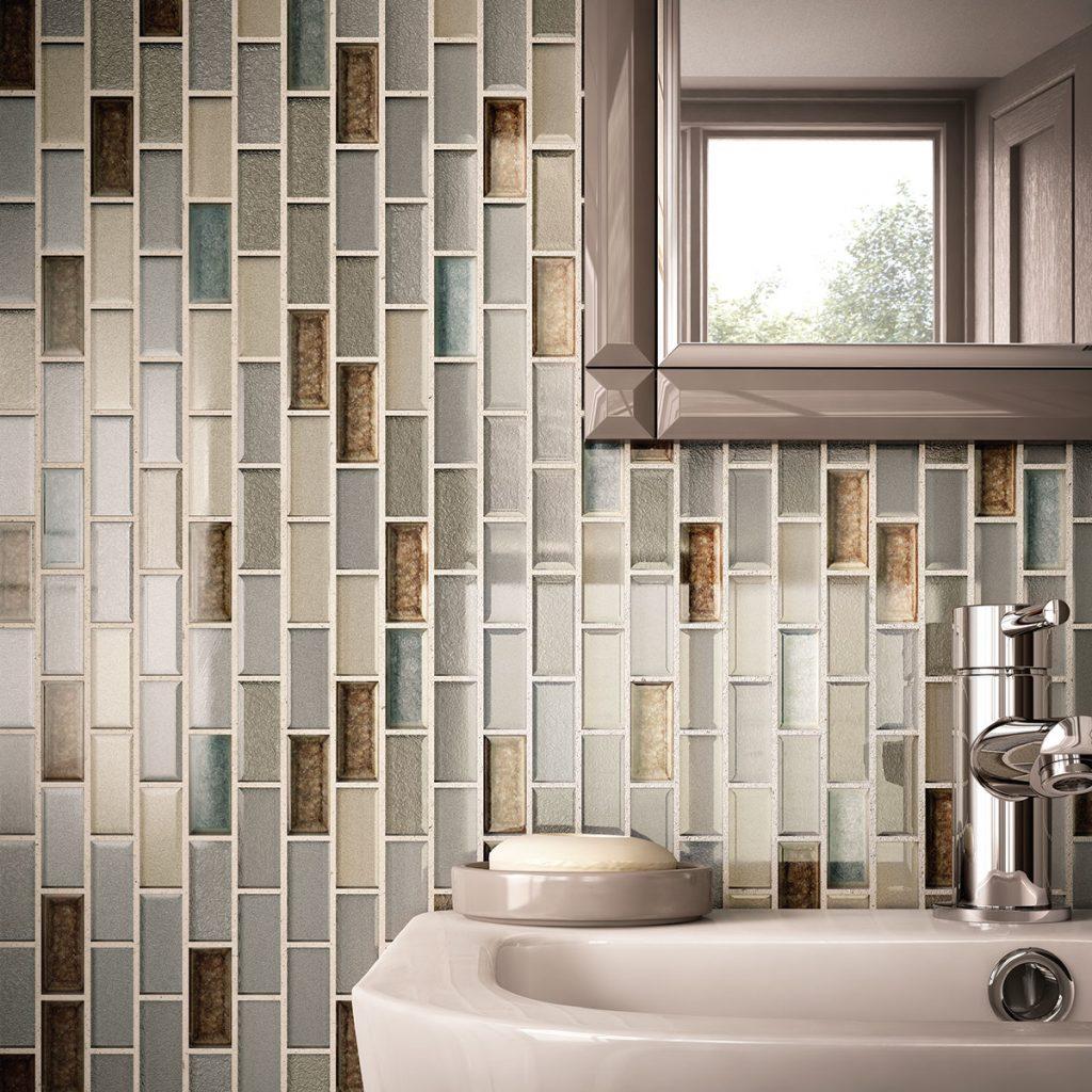 Bold Backsplashes tiles of bathroom wall | Boyer's Floor Covering