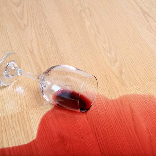 Red wine spill on laminate flooring | Boyer's Floor Covering