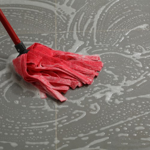 Mopping tile flooring | Boyer's Floor Covering