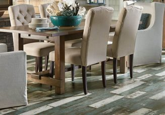 Laminate flooring with dining table | Boyer's Floor Covering